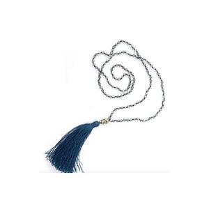 Collier Mala Bleu Foncé avec Bouddha