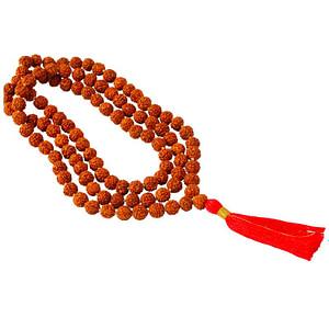 Collier Mala graines de rudraskha 108 perles
