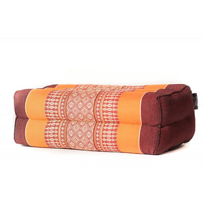 Zafu en Kapok Orange/Burgundy - Anadeo