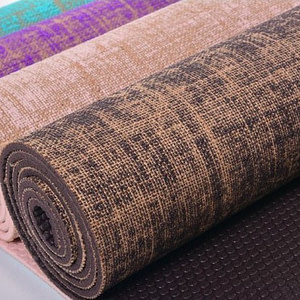 Tapis de Yoga Mocca en Jute - Anadeo